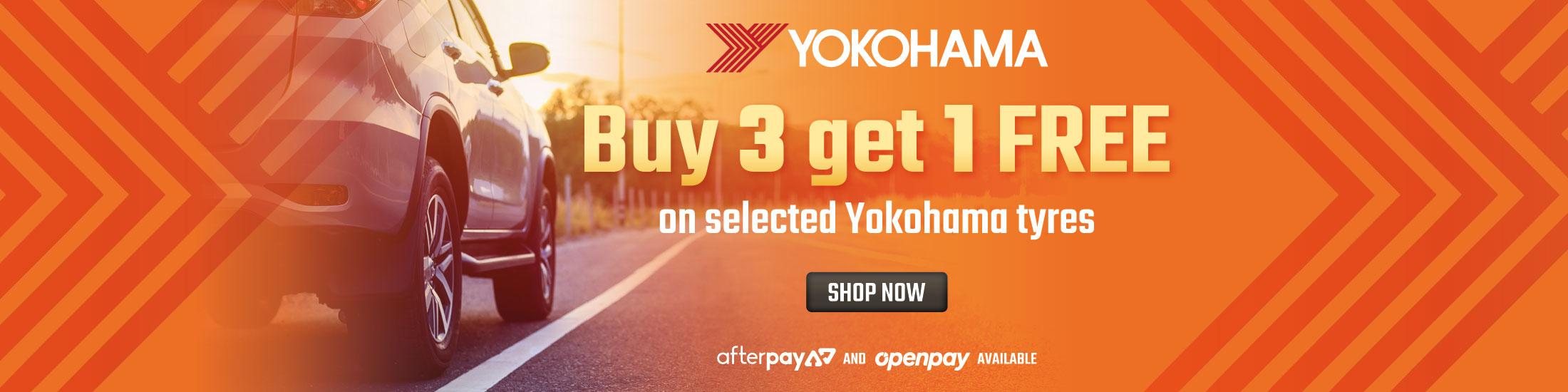 Yokohama Buy 3 Get 1 Free Promo